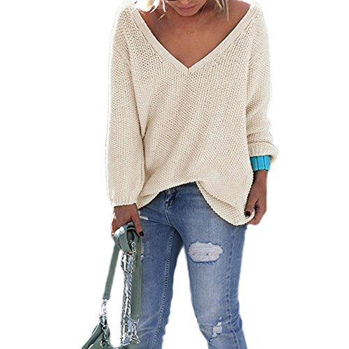 VIASA_ Sweatshirts & Knitwear -  Felpa  - Donna Beige Taglia unica