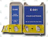 1 Set of 2 Epson Stylus Compatible T040 & T041 Ink Cartridges (1 x Black and 1 x Colour) for CX3200