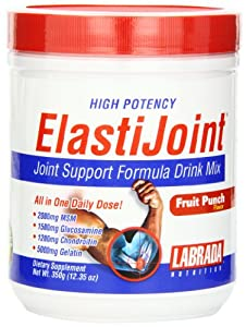 Labrada Nutrition ElastiJoint Joint Support Formula Drink Mix, Fruit Punch, 12.35-Ounce Tub