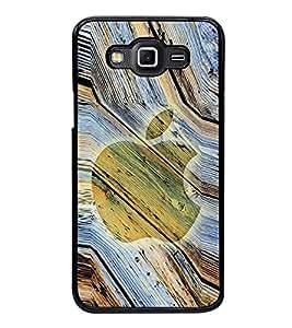 Fuson Premium 2D Back Case Cover Designed apple With White Background Degined For Samsung Galaxy E7::Samsung Galaxy E7 E700F