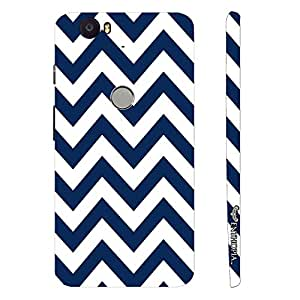Google Nexus 6P CHEVRON WAVE designer mobile hard shell case by Enthopia