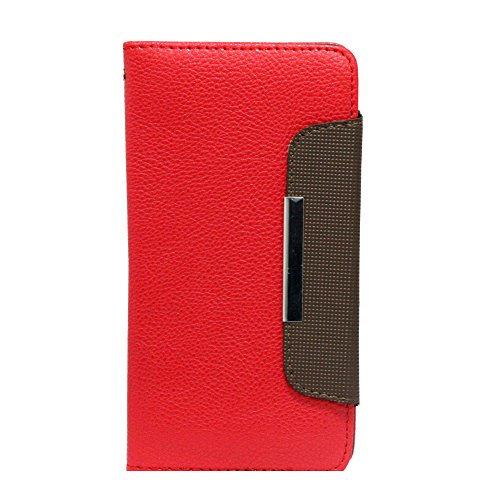 Jo Jo Z Series Magnetic High Quality Universal Phone Flip Case Cover Stand For Htc Desire 816G Dual Sim Red Dark Brown