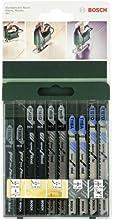 Comprar Bosch 2 609 256 746 - Juego de hojas de sierra de calar de 10 piezas vástago en T