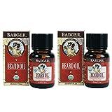 Badger Beard Oil with Jojoba, Babassu, Sunflower, Bergamot Peel, and Sandalwood Oils, 1fl. oz. (Pack of 2)