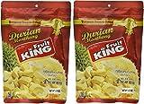 King Fruit - Vacuum Freeze Dried Durian Fruit - 7 Oz (Monthong Chunk) (3.5 Oz X 2 Bags)