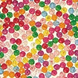 Multicolor Faceted Plastic Beads - 8mm (Bag of 3000)