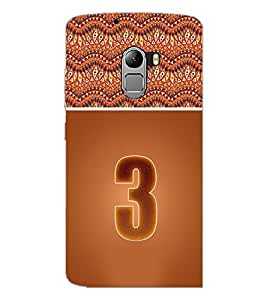 PrintDhaba Numerology Number 3 D-3635 Back Case Cover for LENOVO K4 NOTE A7010a48 (Multi-Coloured)