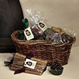 Copperfield 47145 Sampler Gift Basket. Woven Willow Basket With 6 Pine Cone Starters, 2 lbs of Fatwood, 1 lb. of Color Cones, and 5 oz. Potpourri
