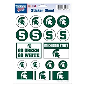 Buy NCAA Michigan State Spartans 5'' x 7'' Sticker Sheet by WinCraft