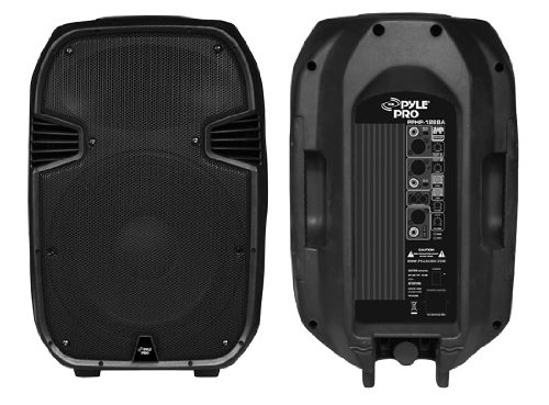 Pyle-Pro Pphp1288A 800 Watts Powered 12'' Two-Way Plastic Molded Speaker System