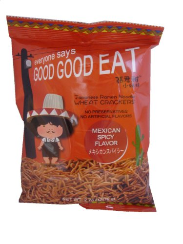 Wei Lih GGE Ramen Noodle Wheat Crackers Mexican Spicy Flavor,3.31-Ounce (Pack of 15)