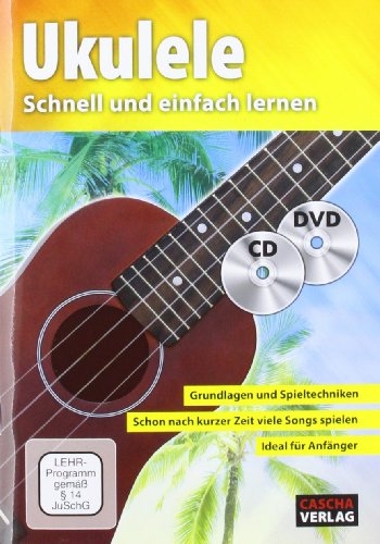 Ukulele, m. Audio-CD + DVD