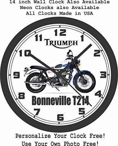 2016 TRIUMPH BONNEVILLE T214 WALL CLOCK-FREE USA SHIP!