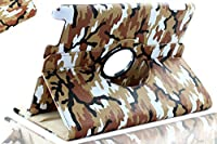 SANOXY® 360 Degrees Rotating Stand PU Leather Case for iPad 2/3/4, iPad 2nd generation (iPad 2/3/4 CAMOUFLAGE ARMY BROWN) from SANOXY