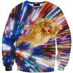 YICHUN Women Girls Tops T-Shirt Thin Sweatshirts Casual Blouse Printing Pullovers Sweater