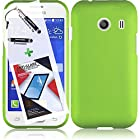 3 in 1 Bundle Samsung Galaxy Ace Style S765C Rubberized Protective Case Cover Skin - Neon Green with Free Ultra-Sensitive Stylus Pen and Premium Screen Protector by BeautyCentral TM