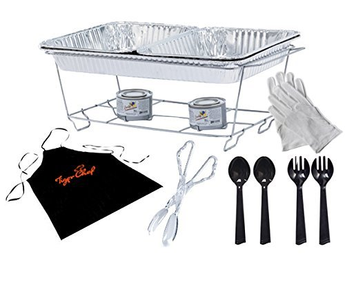 Disposable Food Warmers ~ Tiger chef full size disposable wire chafer stand kit set