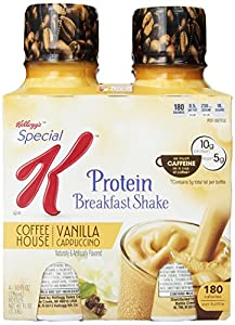 Kellogg's Special K Coffee House Breakfast Shake, Vanilla Cappuccino, 40 Ounce. 4 count (Pack of 6)