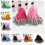 Mini-Factory 100 X Pcs Mix-Colors Mobile Cell Phone Cords Strap Lariat With Lobster Clasp (Mix-Colors)