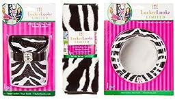 LockerLookz Zebra Set of 3