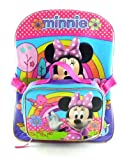Purple Disney Princess Backpack with Lunch Bag - Full Size Minnie Mouse Backpack
