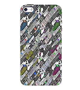 PrintDhaba Parrot D-6001 Back Case Cover for APPLE IPHONE 5S (Multi-Coloured)