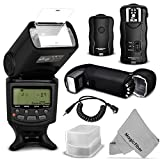 Altura Photo Professional Flash Kit for CANON Rebel T5i T4i T3i T3 T2i T1i SL1 - EOS 700D 650D 600D 1100D 550D 500D 100D DSLR Cameras - Canon EOS M Compact Cameras - Includes: Altura Photo E-TTL Auto-Focus Dedicated Speedlite Flash with LCD Screen + Wireless Camera Flash Trigger and Camera Remote Control Function + Cable-C Cord for Remote Control + Protective Pouch (Batteries Not Included) + Hard Flash Diffuser + MagicFiber Microfiber