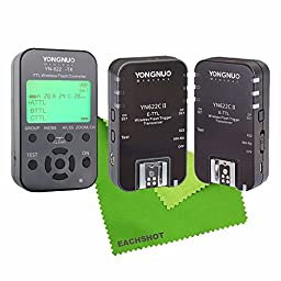 YONGNUO Updated YN622C-II 622C II HSS E-TTL Flash Trigger for Canon Camera Compatible With YN622C YN560-TX RF-603 II RF-605 + YN622C-TX + EACHSHOT® Cleaning Cloth