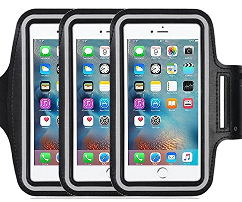 3pack Armband for Apple iPhone 7, 7 Plus,6 6s Plus, LG G5,Samsung Galaxy Note 5 4 3 Note Edge S4 S5 S6 LG G3 G4 G5 Note 4 5 7 Universal case,Great for Running,Exercise Gym Workouts