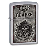 Zippo SAMCRO Lighter, Satin Chrome