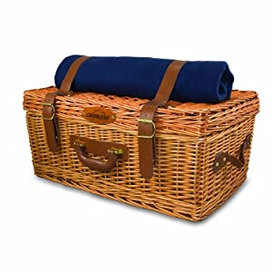 NFL San Diego Chargers Windsor Picnic Basket with Service for Four by Picnic Time