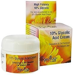 Reviva Labs 10 Percent Glycolic Acid Cream, 42g