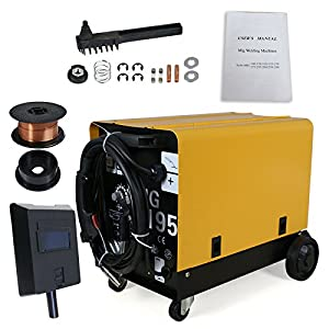 SuperDeal MIG195 Welder Flux Core Auto Wire Welding Device Dual Gas/No Gas Mode Home / DIY 220V from Super Deal