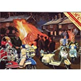 Vespa's at the Bonfire (greetings card)by Rothbury Collection