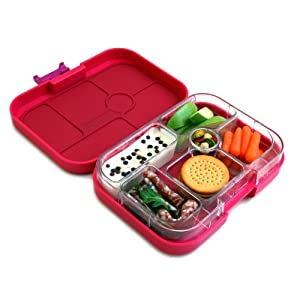 yumbox leakproof bento lunch box container framboise pink for kids kitchen dining. Black Bedroom Furniture Sets. Home Design Ideas