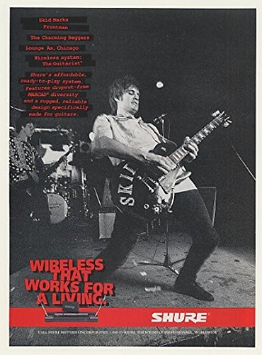 1996 Skid Marks Shure Guitarist Wireless System Photo Print Ad (45585)