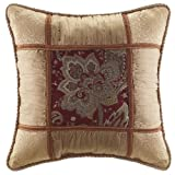 Croscill Home Fashions Mystique Fashion Pillow 18-Inch by 18-Inch Claret
