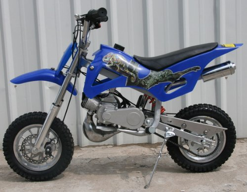 DB49A BLUE 49CC 50CC 2-STROKE GAS MOTOR MINI DIRT PIT BIKE