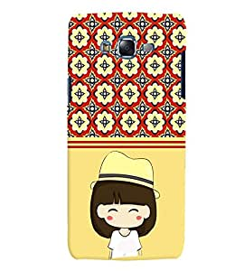 Fuson 3D Printed Girly Designer back case cover for Samsung Galaxy J7 - D4440