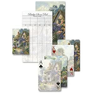 An Old-Fashioned Cottage and The Old Garden Path - Bridge Playing Cards Gift Set