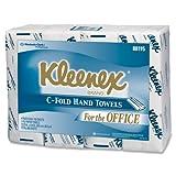 Kleenex C-Fold Hand Towel - 1 Ply - 150 Sheets/Bundle - 600 / Pack - White