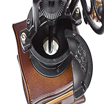 Foruchoice Vintage Style Coffee Grinder Spice Hand Grinding Machine Hand-crank Roller Drive Grain Burr Mill Coffee Machine