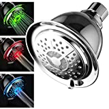 PowerSpa® All-Chrome LED-Showerhead with Air Turbo Pressure Boost Technology