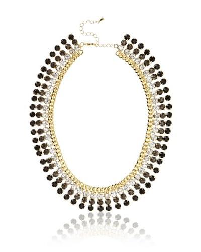 Sparkling Sage Crystal Collar Statement Necklace