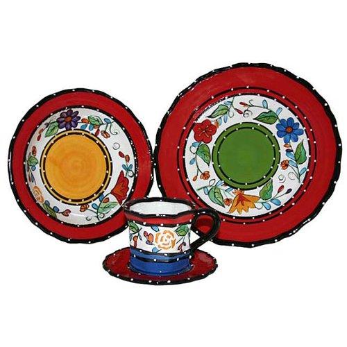 Tutti Frutti, Ceramic Kitchen Dinnerware 16-Piece Set, 89516, by ACK.