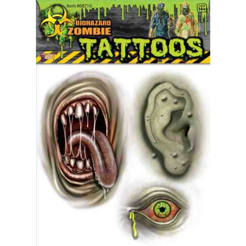Bio-Hazard Mutant Body Part Tatoo 1 Count