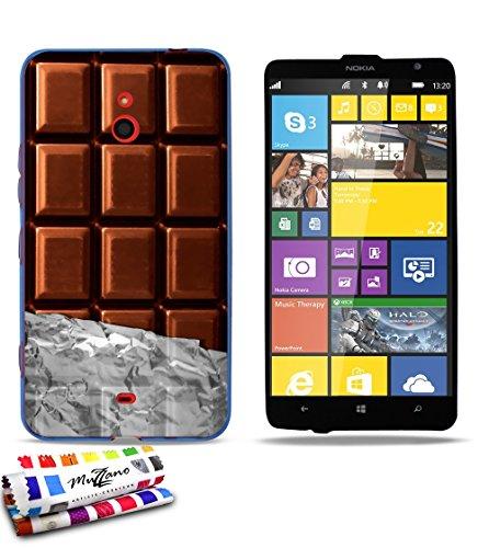 Muzzano Ref 747134 - Coque souple Ultra Fine pour Nokia Lumia 1320 Bleu Motif Chocolat