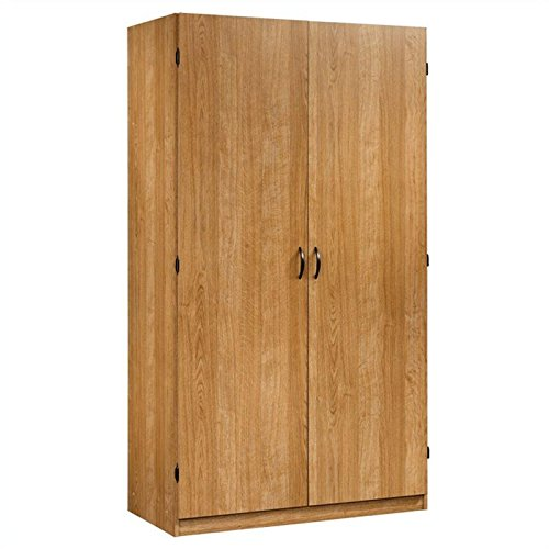 Sauder Beginnings Storage Cabinet, Highland Oak (Sauder Wardrobe Cabinet compare prices)