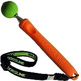 Dogsline Target Stick mit elastischer Handschlaufe für Erziehung Ausbildung und Training , Edelstahl 17-73cm orange , DL13TSA