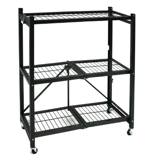 Images for Origami R3-01W General Purpose 3-Shelf Steel Collapsable Storage Rack with Wheels, Small